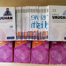 Libros de segunda mano: VAUGHAN - CURSO INTENSIVO DE INGLÉS - 60 TOMOS Y MÁS DE 200 CD,S. Lote 178185817