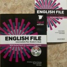 Libros de segunda mano: ENGLISH FILE INTERMEDIATE PLUS STUDENTS BOOK THIRD EDITION - CHRISTINA LATHAM KOENIG OXFORD. Lote 178990418