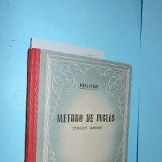 Libros de segunda mano: MÉTODO DE INGLÉS TERCER: CLAVE DE LOS EJERCICIOS. ED. EDELVIVES. ZARAGOZA 1953. Lote 180167622