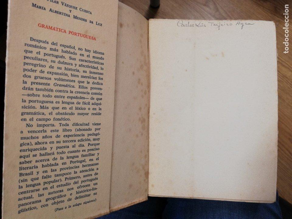 Libros de segunda mano: Gramática portuguesa. Vol II. Pilar Vázquez y María Albertina Mendes - Foto 3 - 182280747