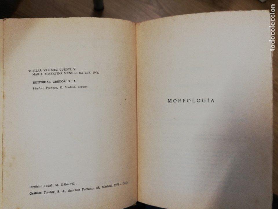 Libros de segunda mano: Gramática portuguesa. Vol II. Pilar Vázquez y María Albertina Mendes - Foto 4 - 182280747
