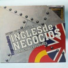 Libros de segunda mano: CURSO DE INGLES DE NEGOCIOS. EMPRENDEDORES. 6 DVD #CD. Lote 182678088