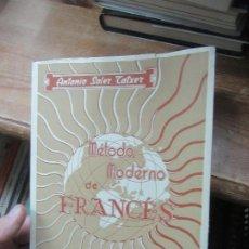 Libros de segunda mano: MÉTODO MODERNO DE FRANCÉS, ANTONIO SOLER TATXER. L.19761. Lote 183371355