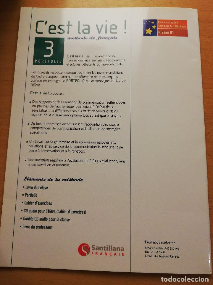 Cest La Vie Métode De Français 3 Livre De Lélève Accompagné Du Portfolio