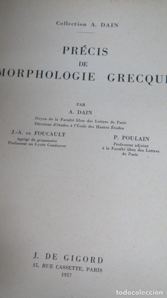 Libros de segunda mano: PRECIS DE MORPHOLOGIE GRECQUE. GIGORD - Foto 2 - 186159456