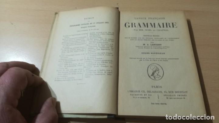Libros de segunda mano: GRAMMAIRE LANGUE FRANCAISE - NÖEL CHAPSAL - DELAGRAVE 1901 / H302 - Foto 5 - 188845873