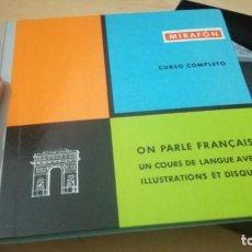 Libros de segunda mano: ON PARLE FRANCAIS - MIRAFON - CURSO COMPLETO - LIBRO + 6 DISCOS/ TXT 36. Lote 189083178