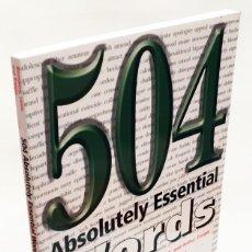 Livros em segunda mão: 504 ABSOLUTELY ESSENTIAL WORDS - EXPAND YOUR VOCABULARY - BARRON'S - APRENDER INGLÉS. Lote 190162665