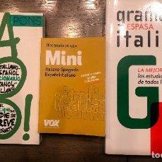 Libros de segunda mano: ITALIANO. DOS DICCIONARIOS+GRAMATICA. Lote 190479216