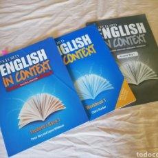 Livros em segunda mão: ENGLISH IN CONTEXT - BACHILLERATO. Lote 190523632