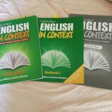 Livros em segunda mão: ENGLISH IN CONTEXT - BACHILLERATO. Lote 190523748