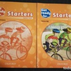 Libros de segunda mano: GET READY FOR STARTERS STUDENT'S BOOK + TEACHER BOOK. Lote 191306926