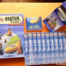 Libros de segunda mano: ENGLISH, NO PROBLEM: FASCÍCULOS + FICHERO + DICCIONARIO + 10 VHS - EL MUNDO - 1997 - COMO NUEVO. Lote 192735956