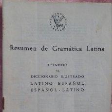 Libros de segunda mano: RESUMEN DE GRAMÁTICA LATINA (SPES, 1962) /// LATÍN GRIEGO HOMERO ILÍADA ODISEA ULISES MITOLOGÍA ROMA. Lote 193925397
