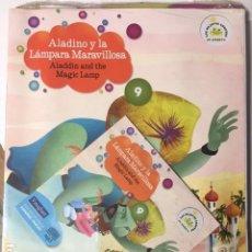 Libros de segunda mano: ALADINO Y LA LÁMPARA MARAVILLOSA. VAUGHAN. Nº 9. EDICIÓN BILINGÜE ESPAÑOL-INGLES, CON CD.. Lote 194264258