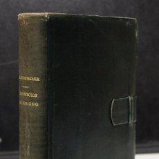 Libros de segunda mano: AOHNA. EJERCICIOS DE GRIEGO. PRIMER, SEGUNDO Y TERCER CURSO.. Lote 194367385