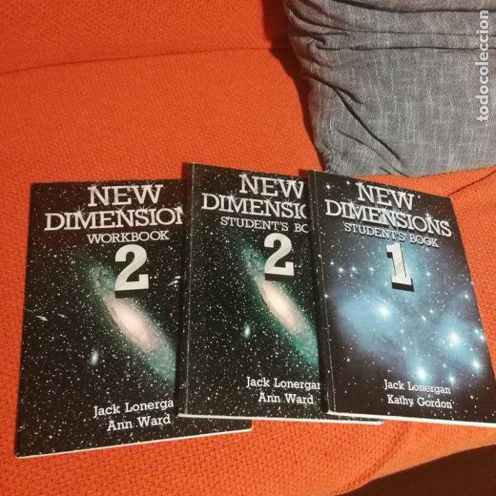 LIBROS NEW DIMENSIONS I Y II STUDENTS BOOK Y NEW DIMENSIONS WORKBOOK (Libros de Segunda Mano - Cursos de Idiomas)