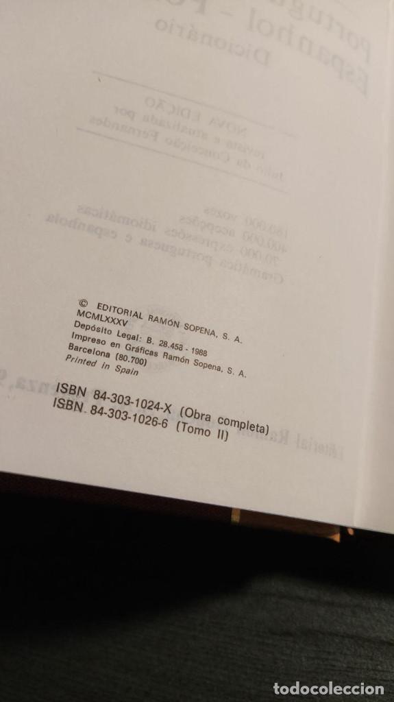 Libros de segunda mano: DICCIONARIO ESPAÑOL PORTUGUES - PORTUGUES ESPAÑOL Editorial Ramon Sopena - Foto 4 - 194896958