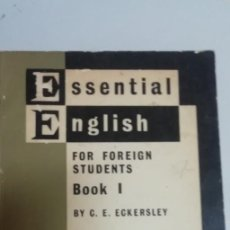 Libros de segunda mano: ESSENTIAL ENGLISH FOR FOREIGN STUDENTS BOOK1. TEACHERS BOOK- C.E. ECKERSLEY. . Lote 195023448