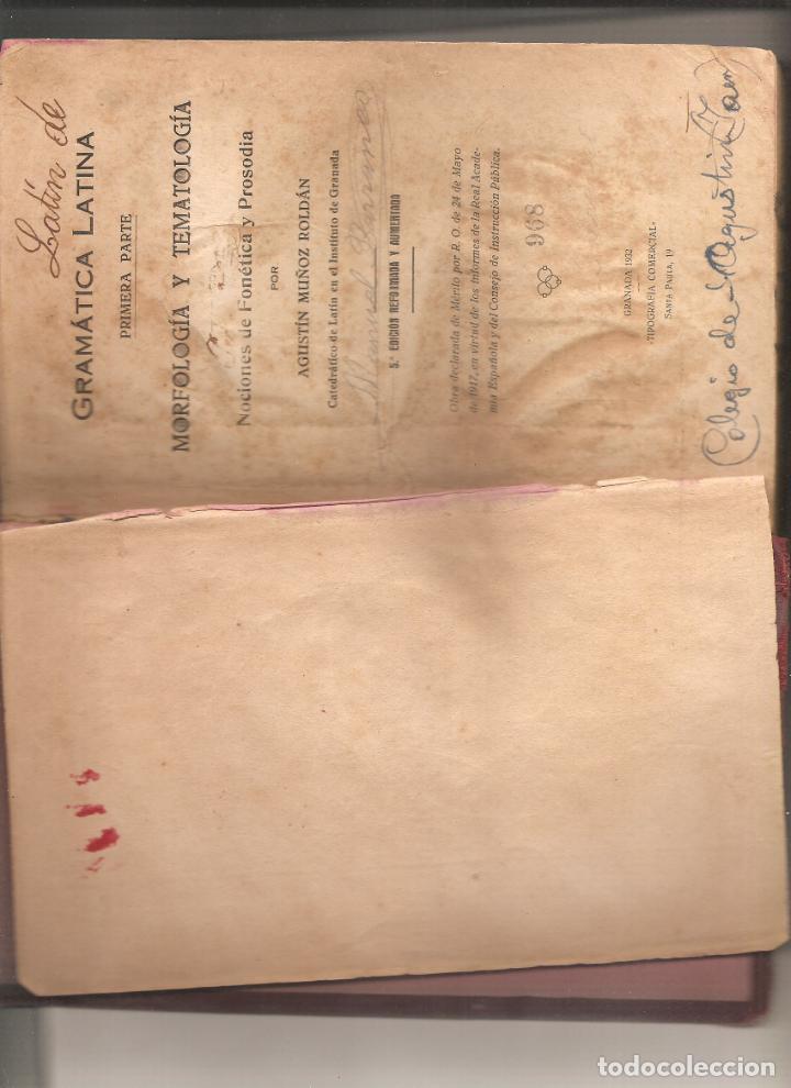 1217. GRAMATICA LATINA. AGUSTIN MUÑOZ ROLDAN (Libros de Segunda Mano - Cursos de Idiomas)