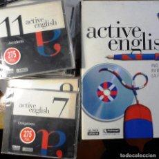 Libros de segunda mano: CURSO DE INGLÉS ACTIVE ENGLISH. INGÉS PARA TODA LA FAMILIA. EL PAÍS/ AGUILAR. COMPLETO CON 14 CDS.. Lote 195499983