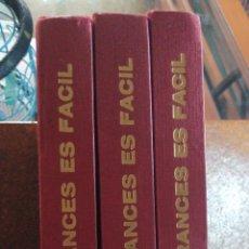 Libros de segunda mano: CURSO DE FRANCÉS EL FRANCÉS ES FÁCIL EN TRES TOMOS. Lote 196201833