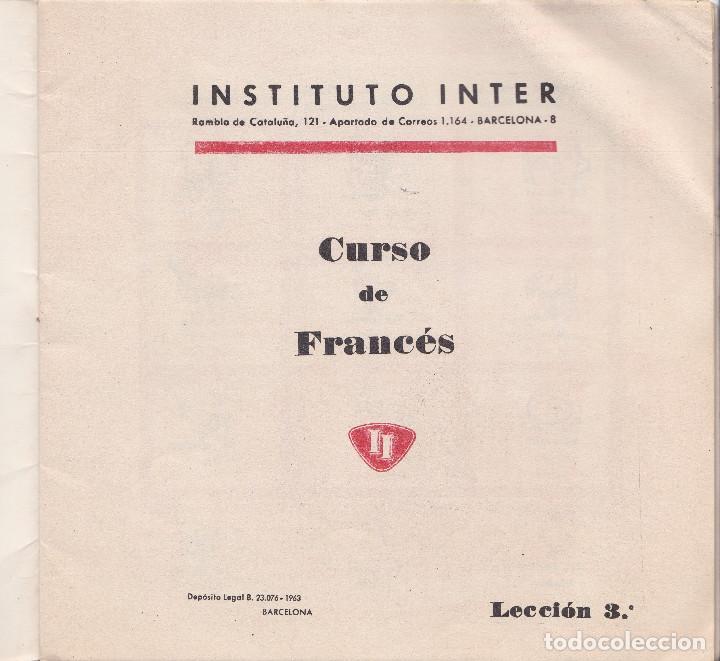 Libros de segunda mano: CURSO DE FRANCES, 1963, INSTITUTO INTER, 18 FASCICULOS, CURSO INCOMPLETO FALTAN 1 Y 2 - Foto 3 - 196725043