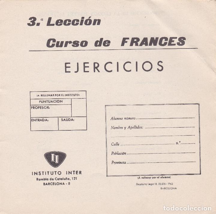 Libros de segunda mano: CURSO DE FRANCES, 1963, INSTITUTO INTER, 18 FASCICULOS, CURSO INCOMPLETO FALTAN 1 Y 2 - Foto 9 - 196725043