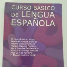 Libros de segunda mano: CURSO BÁSICO DE LENGUA ESPAÑOLA / Mª LUZ GUTIÉRREZ Y OTROS / EDIT. UNIVERSITARIA RAMÓN ARECES. Lote 197311440