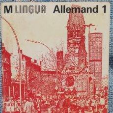 Libros de segunda mano: M LINGUA, ALLEMAND 1, AÑOS '60, FRANCÉS - ALEMÁN /// INGLÉS ITALIANO PORTUGUÉS IDIOMAS TRADUCCIÓN. Lote 197446030