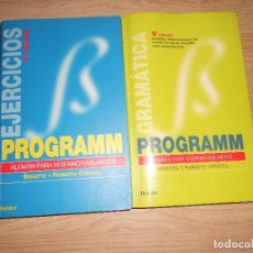 Libros de segunda mano: PROGRAMM EJERCICIOS + PROGRAMM GRAMATICA ALEMAN PARA HISPANOHABLANTE - BRIGITTE Y ROBERTO CORCOLL. Lote 198339353