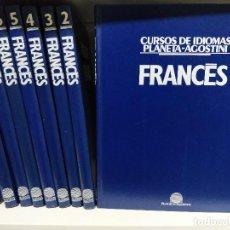 Libros de segunda mano: CURSOS DE IDIOMAS FRANCÉS. PLANETA-AGOSTINI. LOTE 8 LIBROS. Lote 198954596