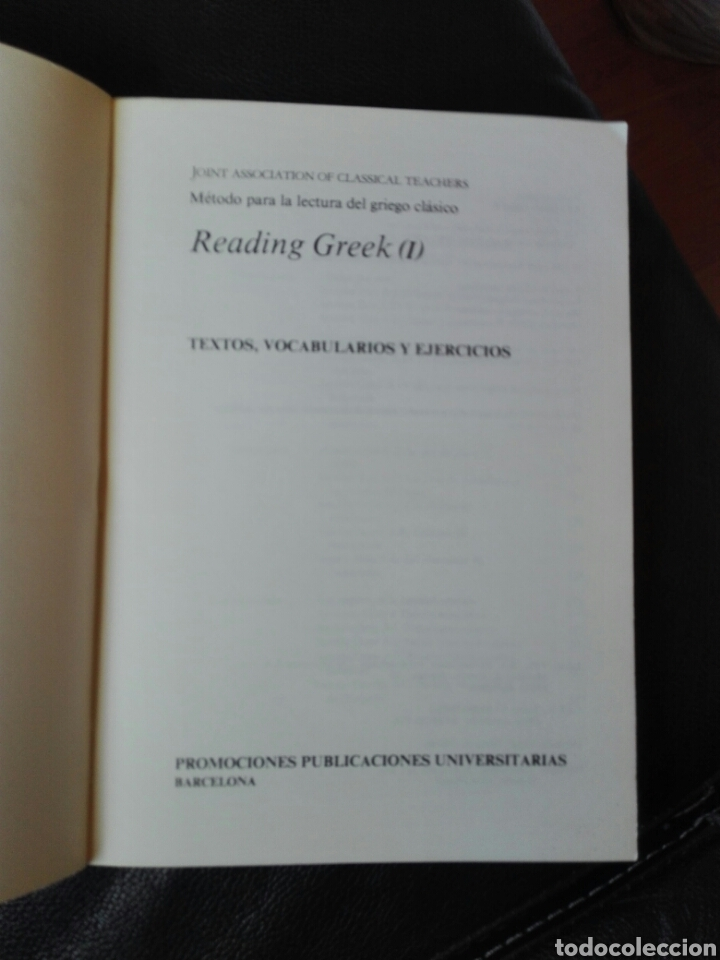 Libros de segunda mano: Reading greek. 1. Textos. Vocabulario y ejercicios. Publicaciones universitarias Barcelona. 1981. - Foto 2 - 199035987