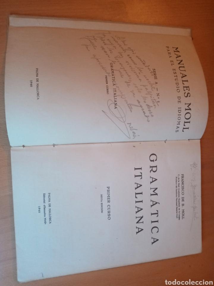 Libros de segunda mano: GRAMÁTICA ITALIANA MOLL 1940 - Foto 3 - 199513930