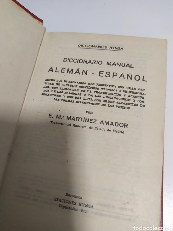 Libros de segunda mano: DICCIONARIO ALEMAN - ESPAÑOL . CUYAS DE EDIT. HYMSA, BARCELONA, 1941 . - Foto 8 - 200763767