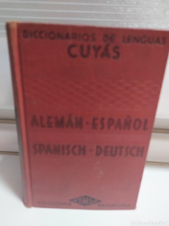 DICCIONARIO ALEMAN - ESPAÑOL . CUYAS DE EDIT. HYMSA, BARCELONA, 1941 . (Libros de Segunda Mano - Cursos de Idiomas)
