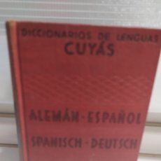 Libros de segunda mano: DICCIONARIO ALEMAN - ESPAÑOL . CUYAS DE EDIT. HYMSA, BARCELONA, 1941 .. Lote 200763767