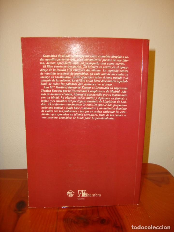 Libros de segunda mano: GRAMÁTICA DE HINDI - ANA THAPAR - ALHAMBRA - RARO - Foto 3 - 257268235