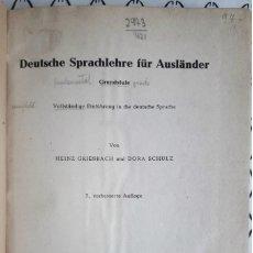 Libros de segunda mano: HEINZ GRIESBACH - DORA SCHULZ . DEUTSCHE SPRACHLEHRE FÜR AUSLÄNDER. Lote 201897803