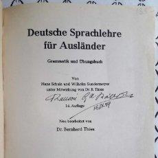 Libros de segunda mano: SCHULZ - SUNDERMEYER - THIES . DEUTSCHE SPRACHLEHRE FÜR AUSLÄNDER. GRAMMATIK UND ÜBUNGSBUCH. Lote 201898307