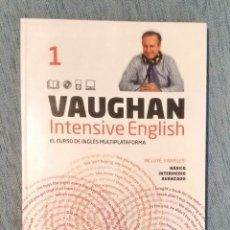 Libros de segunda mano: CURSO DE INGLÉS VAUGHAN INTENSIVE ENGLISH LOTE CON LIBRO Nº 1 Y 35 CD. Lote 202819403