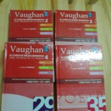 Libros de segunda mano: 4 LIBROS, CURSO DE INGLÉS VAUGHAN,AÑO 2008. Lote 203087653