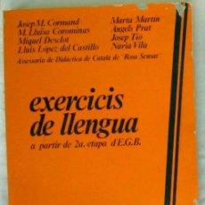 Libros de segunda mano: EXERCISIS DE LLENGUA A PARTIR DE 2ª ETAPA E.G.B. - ED. S. A. CASALS 1979 - VER INDICE. Lote 203966555