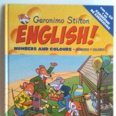 Libros de segunda mano: ENGLISH, NUMBERS AND COLOURS. (INCLUYE EL CD). Lote 288032288