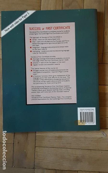 Libros de segunda mano: Success at First Certificate. Robert ONeill - M. Duckworth; K. Gude.OXFORD - 1987 . Sin estrenar - Foto 2 - 206198593