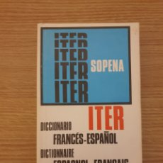 Libros de segunda mano: DICCIONARIO FRANCÉS ESPAÑOL ITER SOPENA. Lote 206539223