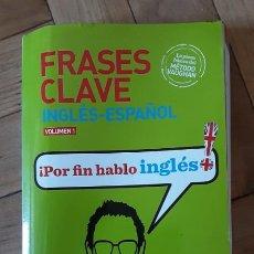 Libros de segunda mano: FRASES CLAVE INGLES - ESPAÑOL VOLUMEN 1 POR FIN HABLO INGLES METODO VAUGHAN. Lote 206769993