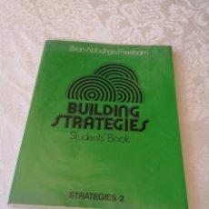 Libros de segunda mano: BUILDING STRATEGIES. STUDENT'S BOOK. BRIAN ABBS. LOGNMAN. 1982.. Lote 207283541