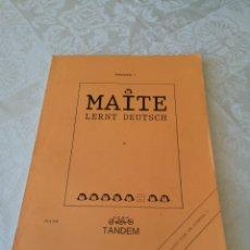 Libros de segunda mano: MAITE LERNT DEUTSCH. ÜBUNGSBUCH 1. TAMDEN. Lote 207284775