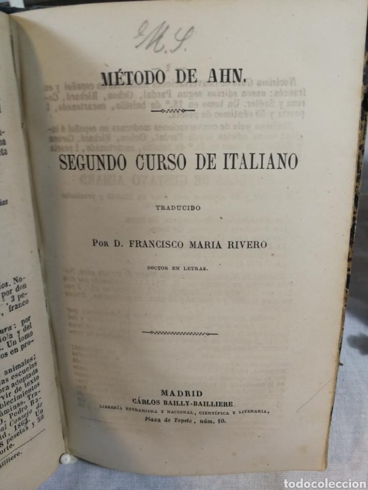 Libros de segunda mano: CURSO DE ITALIANO METODO AHN - Foto 2 - 207817076